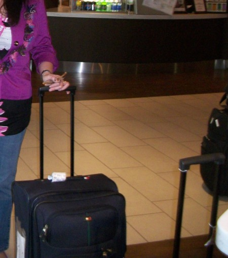 ME WITH MY SUITCASE