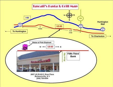 DIRECTIONS TO TASCALIS - PINK ELEPHANT